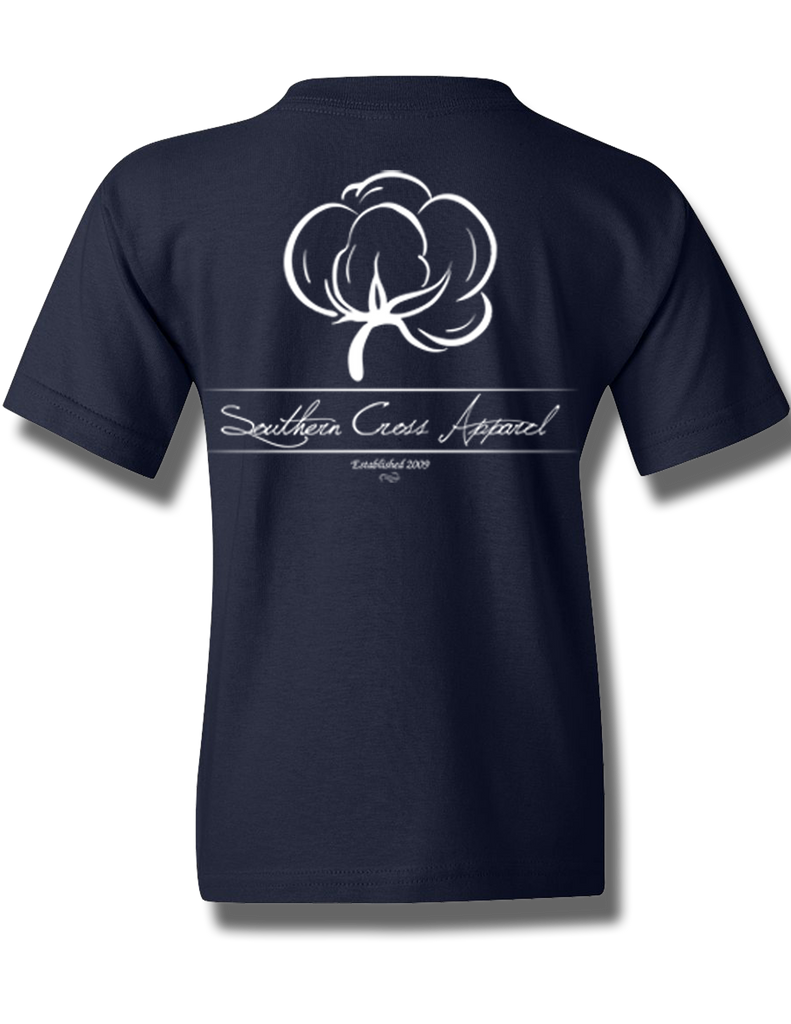Cotton Boll Youth Short Sleeve, T-Shirts - Southern Cross Apparel