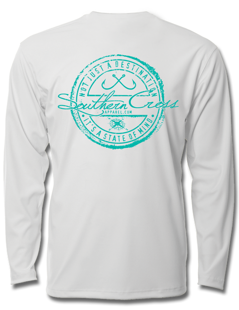 Fishing Stamp Youth Performance Long Sleeve, Performance Gear - Southern Cross Apparel
