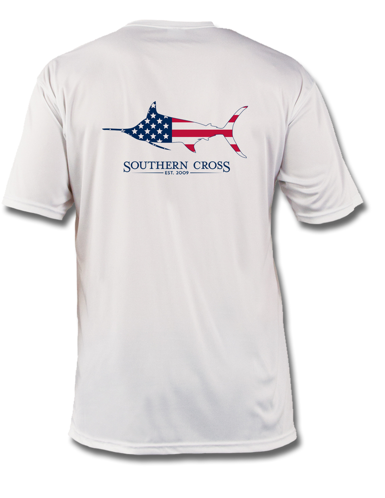 American Marlin Youth Performance Short Sleeve, Performance Gear - Southern Cross Apparel