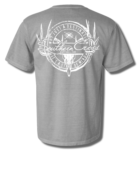 Hunting Stamp Chrome Short Sleeve Small, T-Shsirts - Southern Cross Apparel