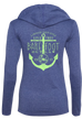 Anchored Ladies Hooded Long Sleeve T-Shirt