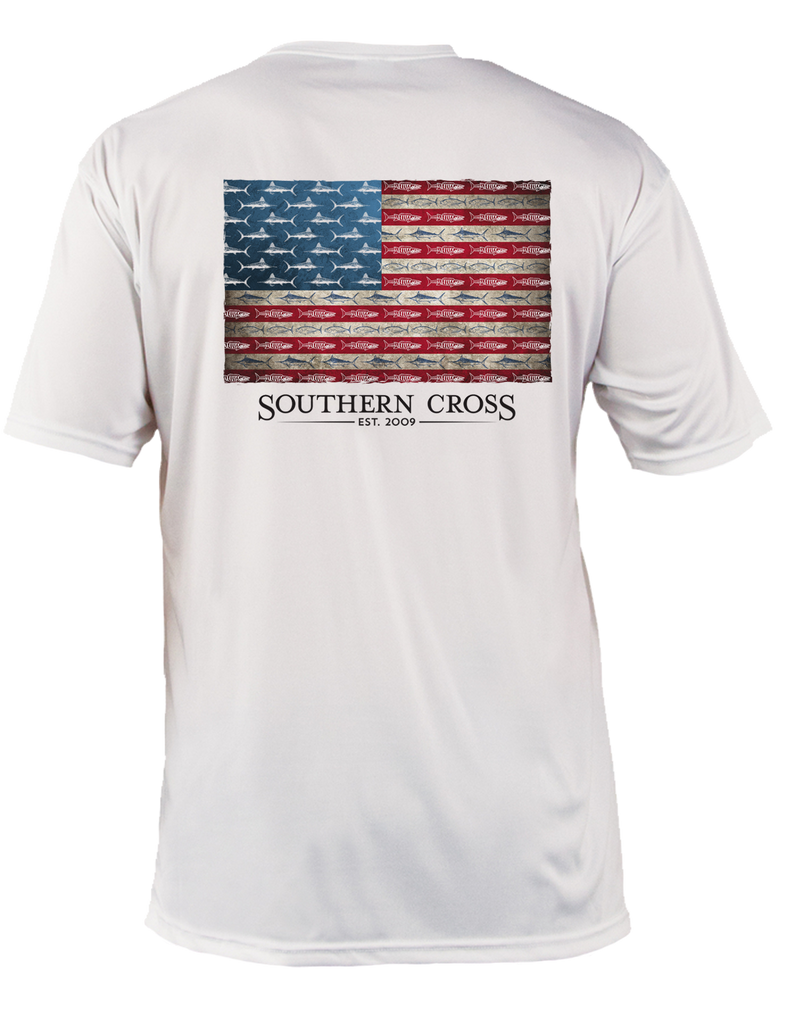 American Flag & Release Adult SS Performance, Performance Gear - Southern Cross Apparel