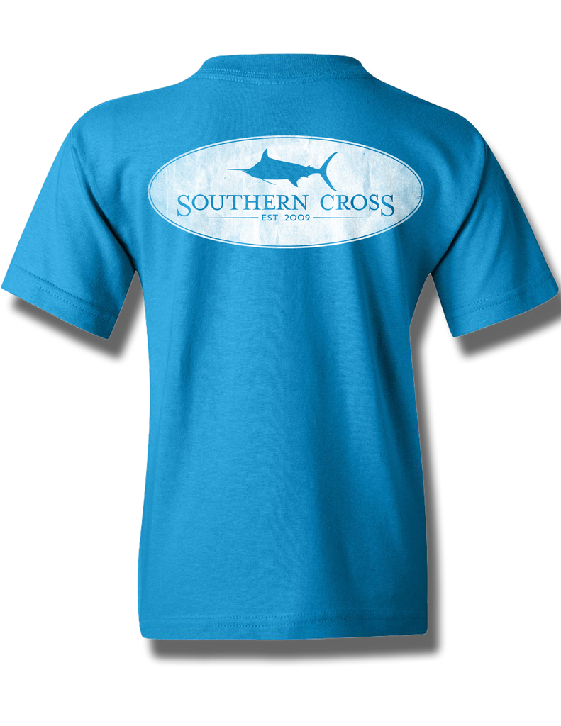 Marlin Oval Sapphire Youth Short Sleeve L, T-Shirts - Southern Cross Apparel