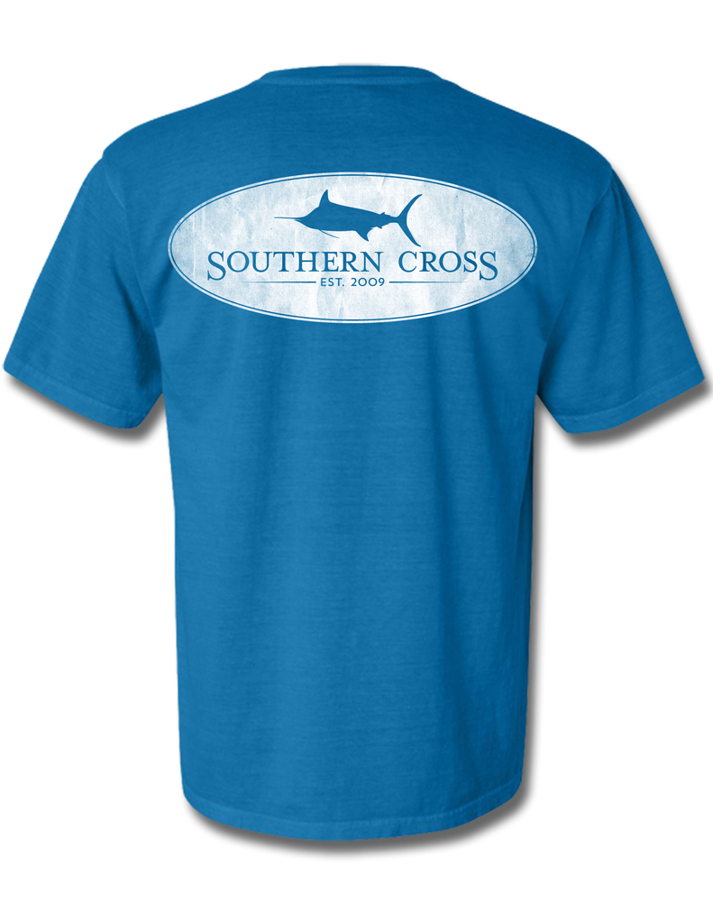 Marlin Oval Royal Youth Short Sleeve XS, T-Shirts - Southern Cross Apparel
