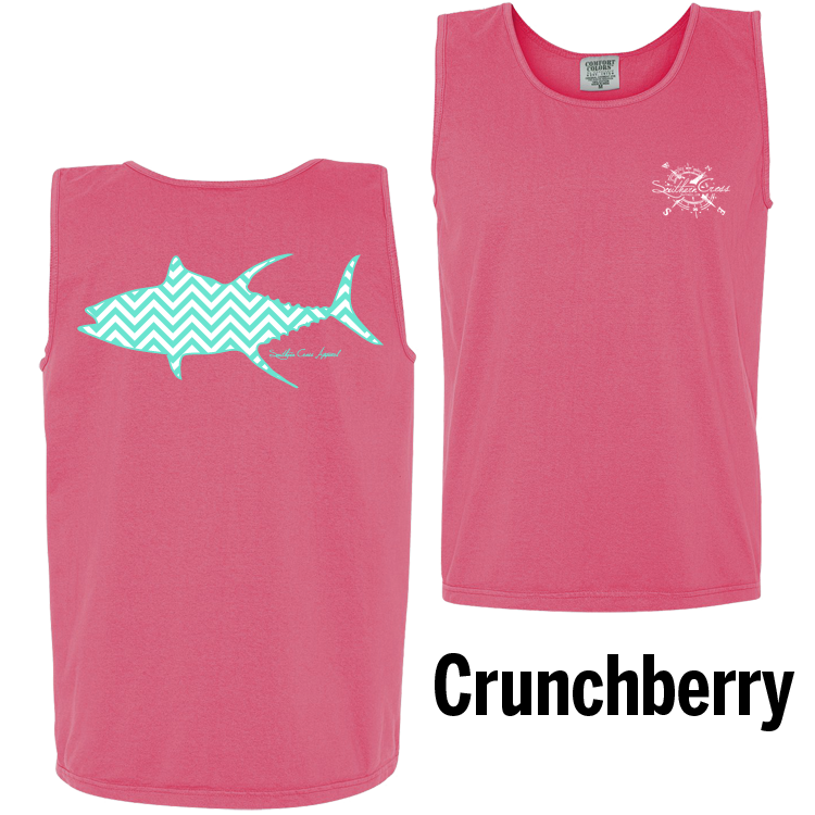 Chevron Tuna T/W Tank Top Crunchberry Small, Tank Tops - Southern Cross Apparel