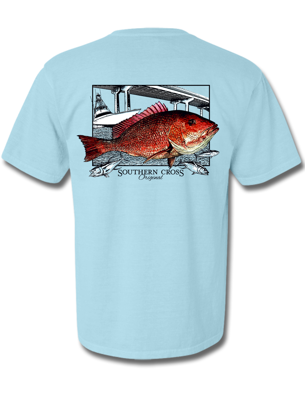 Perdido Pass Fishing Short Sleeve, T-Shirts - Southern Cross Apparel