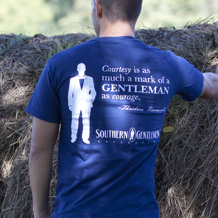 Southern Gentlemen Teddy Short Sleeve, T-Shirts - Southern Cross Apparel