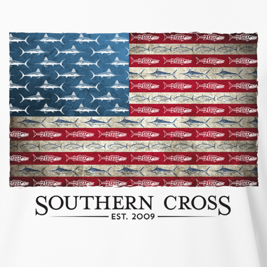 American Flag & Release Kids Long Sleeve Performance, Kids LS Performance - Southern Cross Apparel
