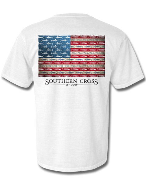 American Flag and Release Short Sleeve, T-Shirts - Southern Cross Apparel