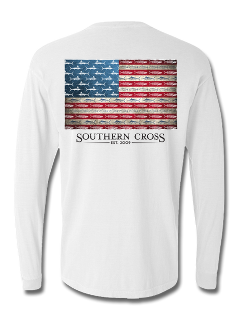 American Flag and Release Long Sleeve, T-Shirts - Southern Cross Apparel