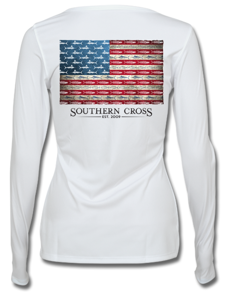 American Flag and Release Ladies Performance Gear, Performance Gear - Southern Cross Apparel