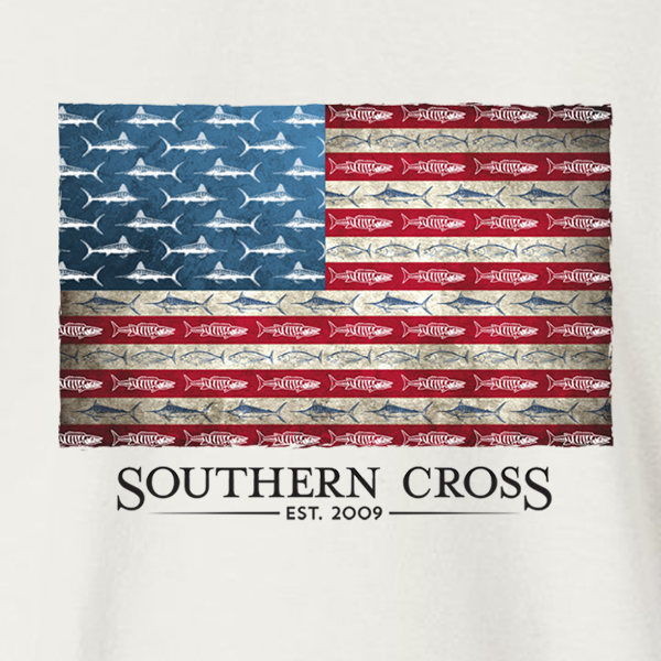 American Flag & Release Adult Long Sleeve, T-Shirts - Southern Cross Apparel