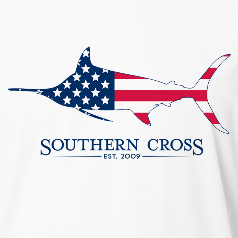 American Marlin Kids Long Sleeve Performance,  - Southern Cross Apparel