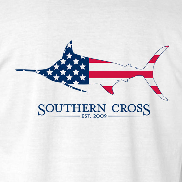 American Marlin Adult Long Sleeve, T-Shirts - Southern Cross Apparel