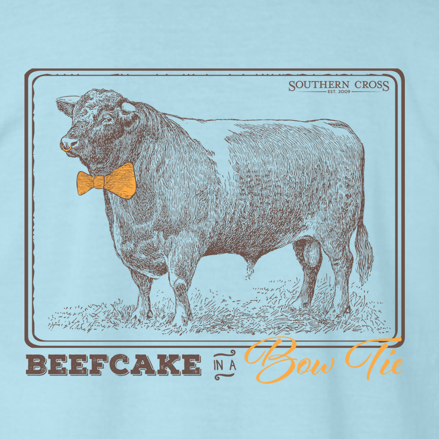 Beefcake in A Bowtie Adult Long Sleeve, T-Shirts - Southern Cross Apparel