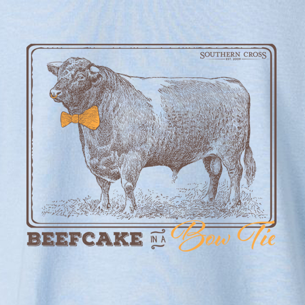 Beefcake In A Bowtie Kids Long Sleeve, T-Shirts - Southern Cross Apparel