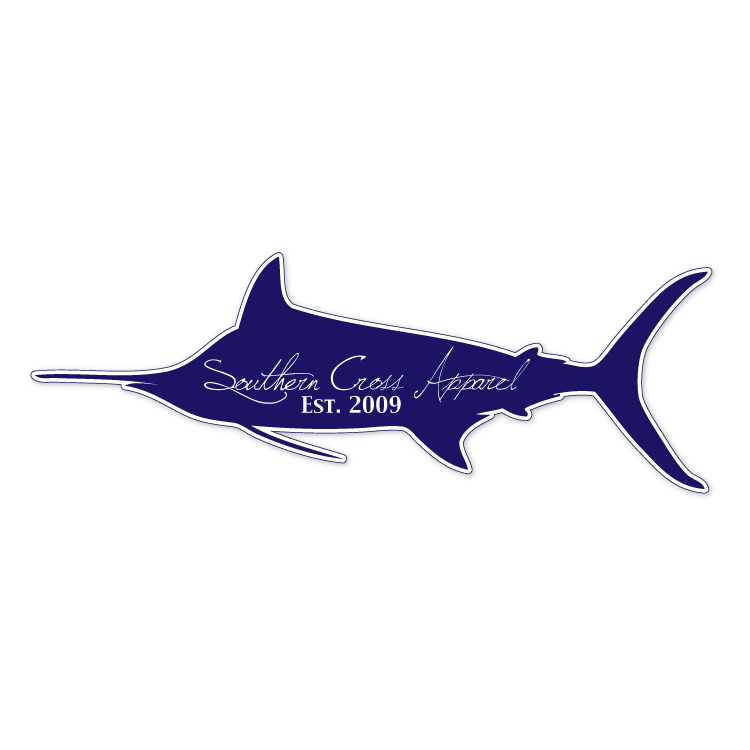 Blue Marlin Decal, Accessories - Southern Cross Apparel