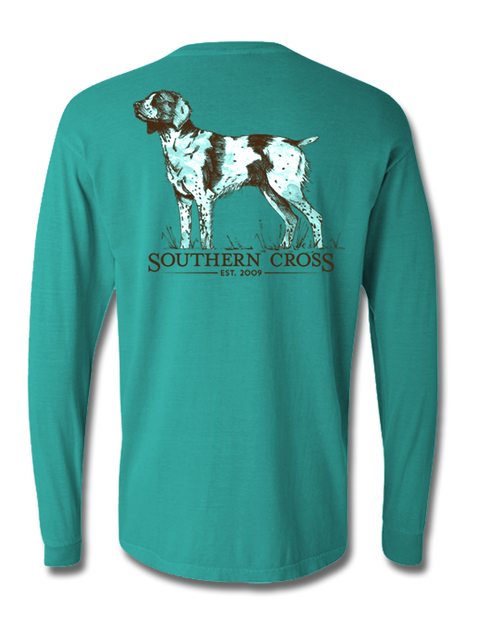 Brittany Spaniel Long Sleeve, T-Shirts - Southern Cross Apparel