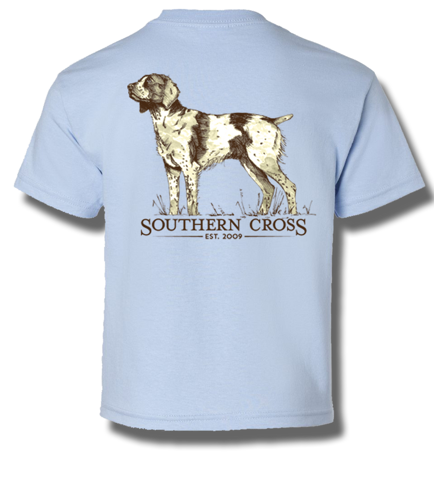 Brittany Spaniel Kids Short Sleeve, Kids SS Tee - Southern Cross Apparel