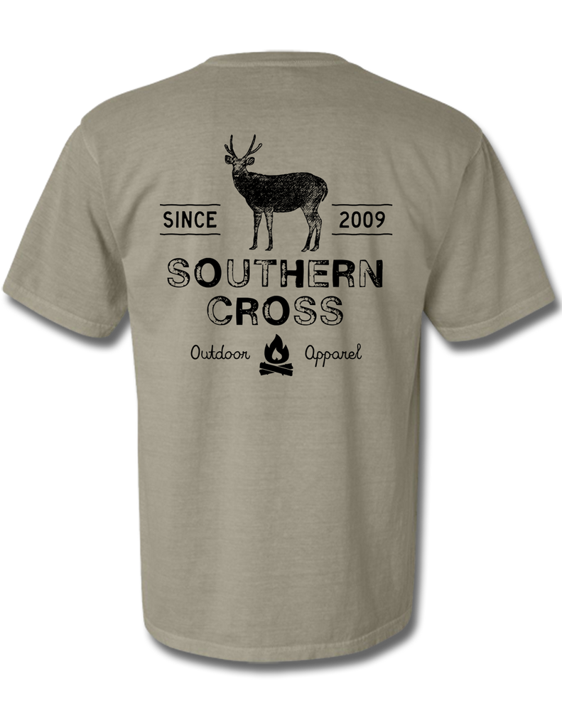 Campfire Deer Tales Adult Short Sleeve, Adult SS Tee - Southern Cross Apparel
