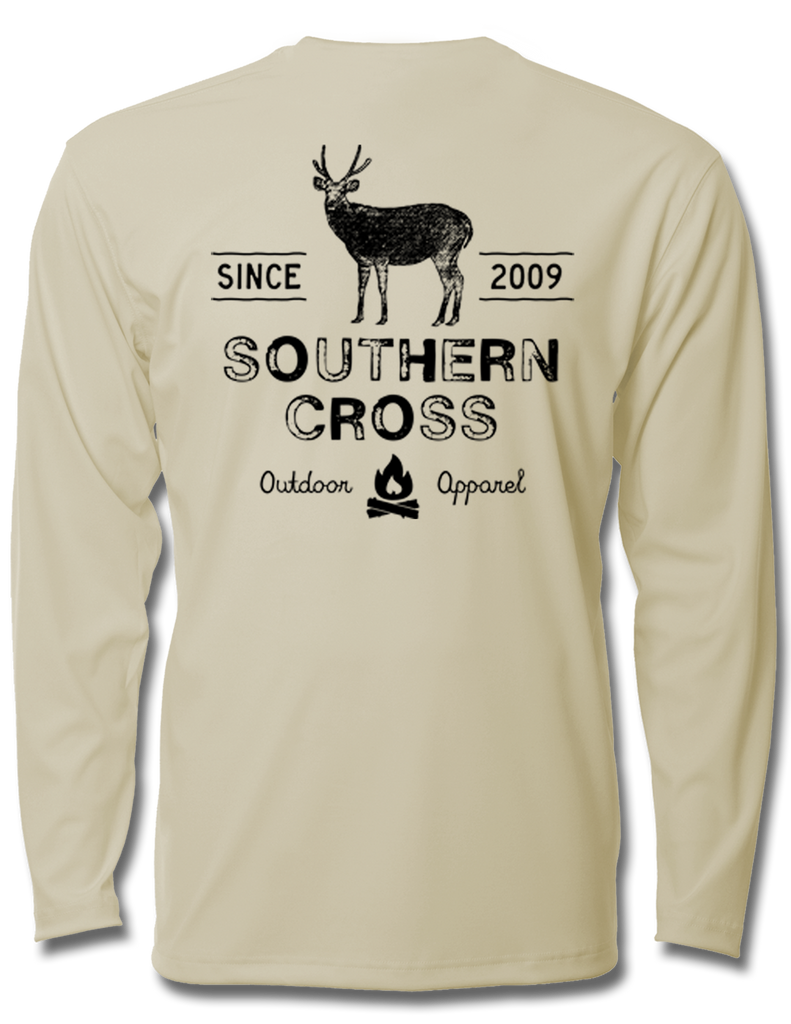 Campfire Deer Tales Adult LS Performance, Performance Gear - Southern Cross Apparel