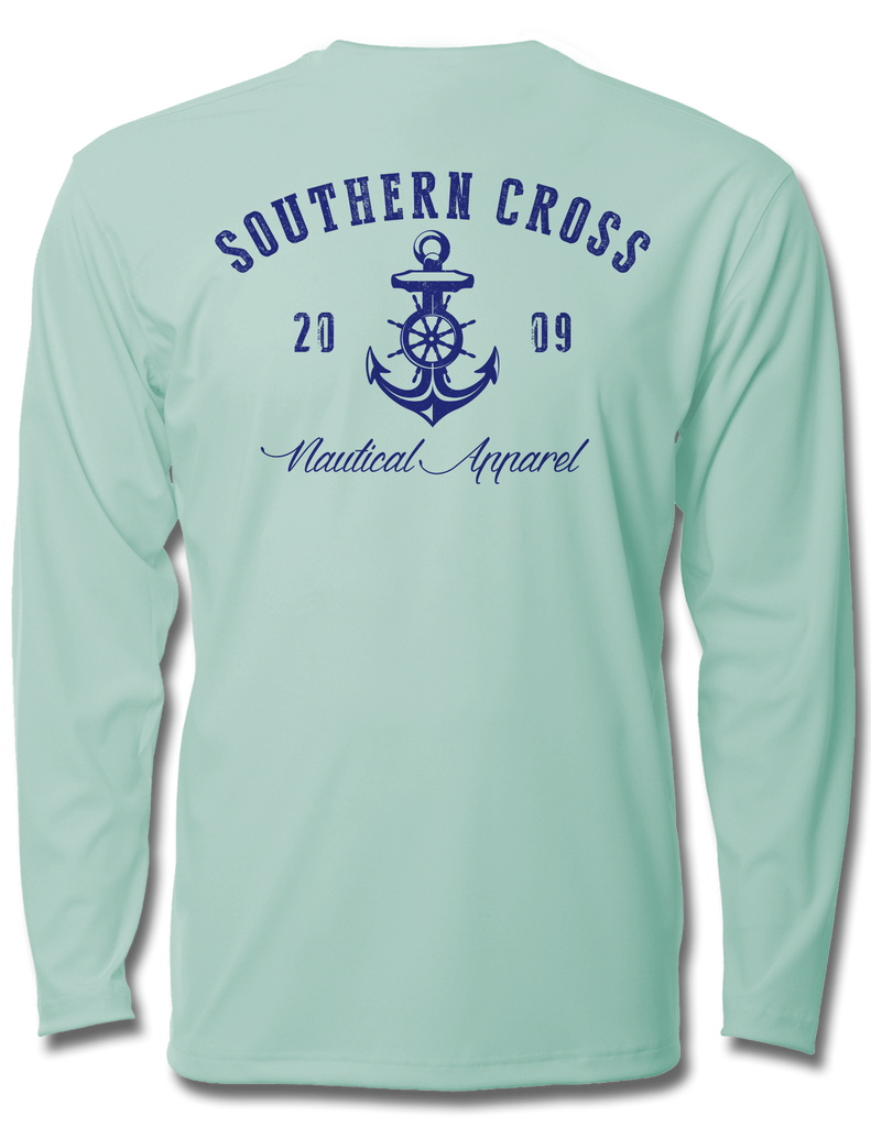 Captains Nautical Anchor Kids LS Performance, Kids LS Performance - Southern Cross Apparel