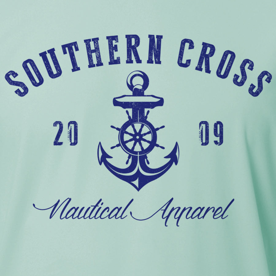 Captains Nautical Anchor Adult LS Performance, Performance Gear - Southern Cross Apparel