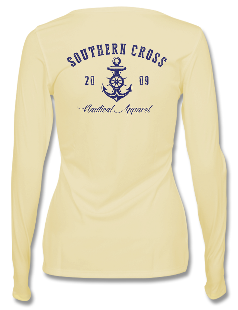 Captains Nautical Anchor Womens Performance, Performance Gear - Southern Cross Apparel