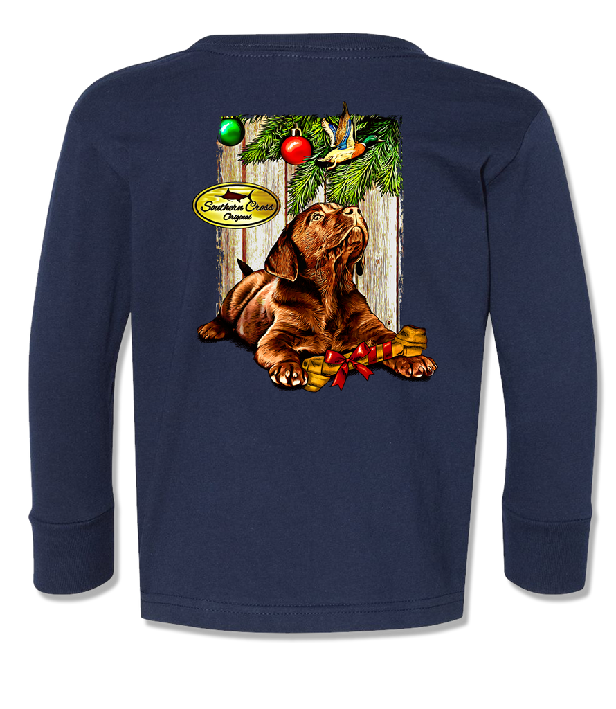 Christmas Wishes Kids Long Sleeve, Kids LS Tee - Southern Cross Apparel