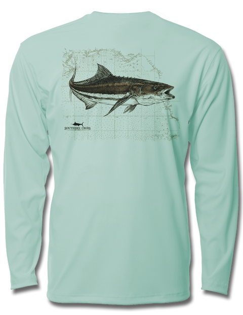 Cobia Map Youth Performance Long Sleeve, Performance Gear - Southern Cross Apparel