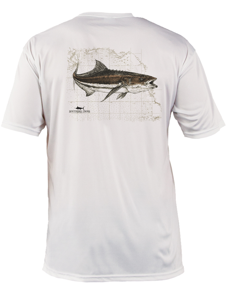Cobia Map Adult SS Performance,  - Southern Cross Apparel