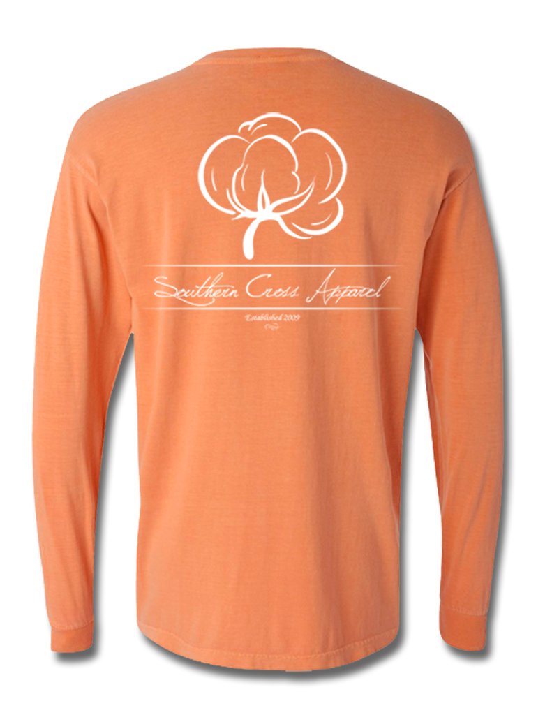 Cotton Boll Adult Long Sleeve, T-Shirts - Southern Cross Apparel