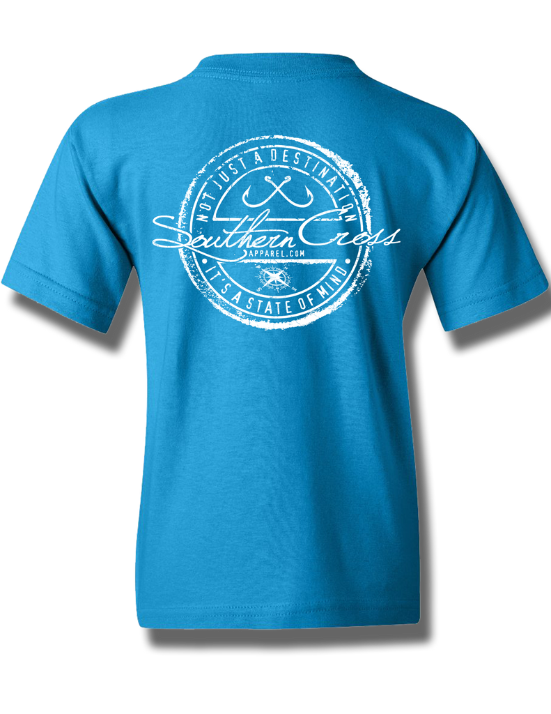 Fishing Stamp Youth Short Sleeve, T-Shirts - Southern Cross Apparel