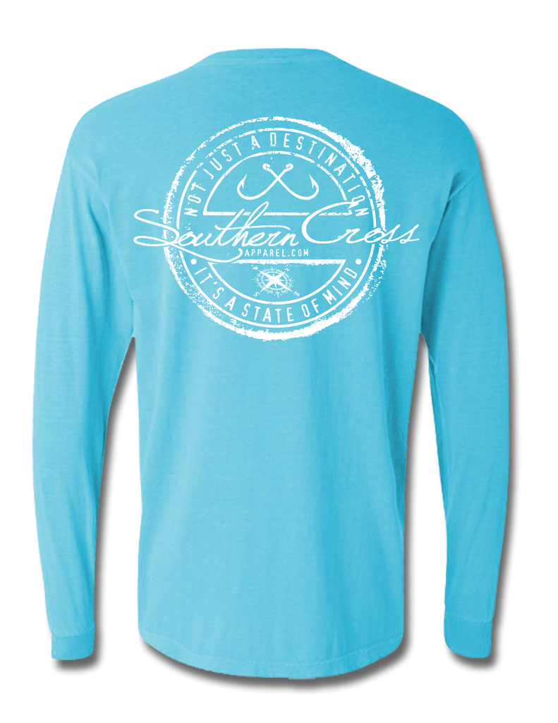 Fishing Stamp Adult Long Sleeve, T-Shirts - Southern Cross Apparel