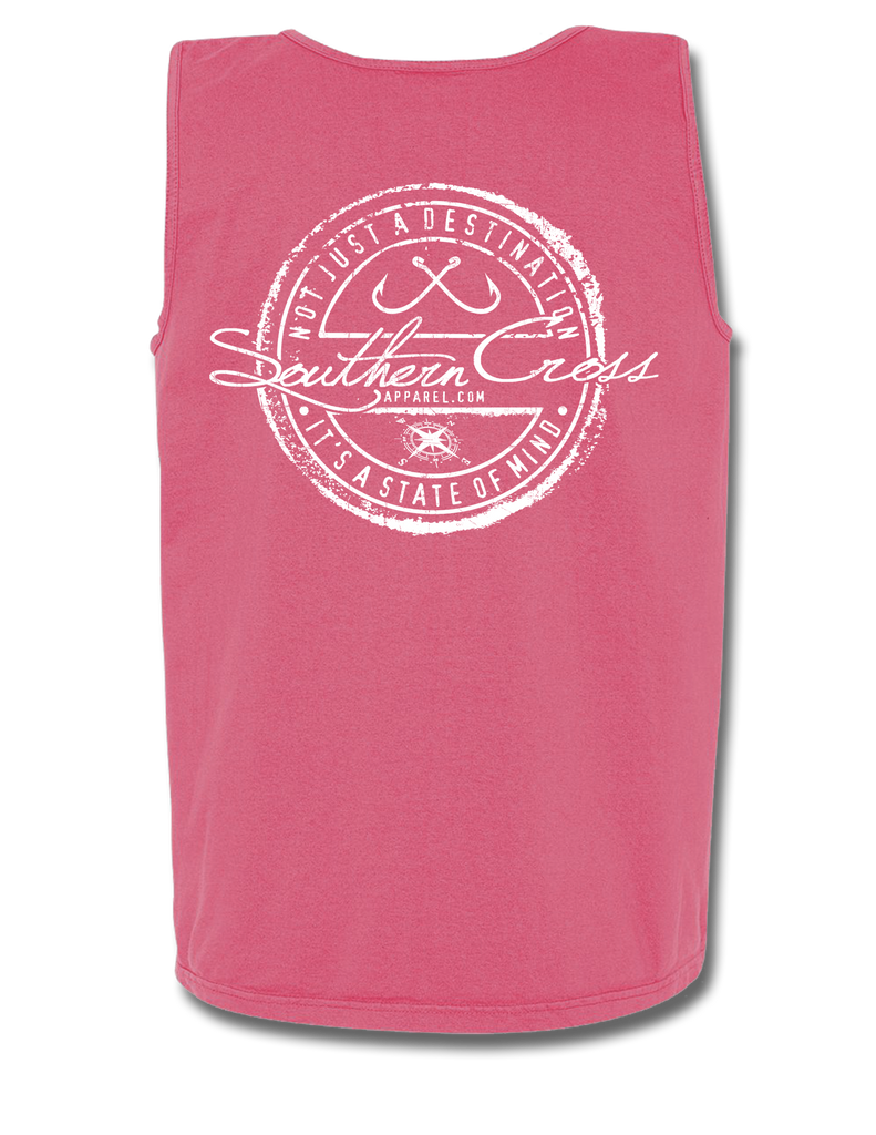 Fishing Stamp Tank Top, Tank Top - Southern Cross Apparel