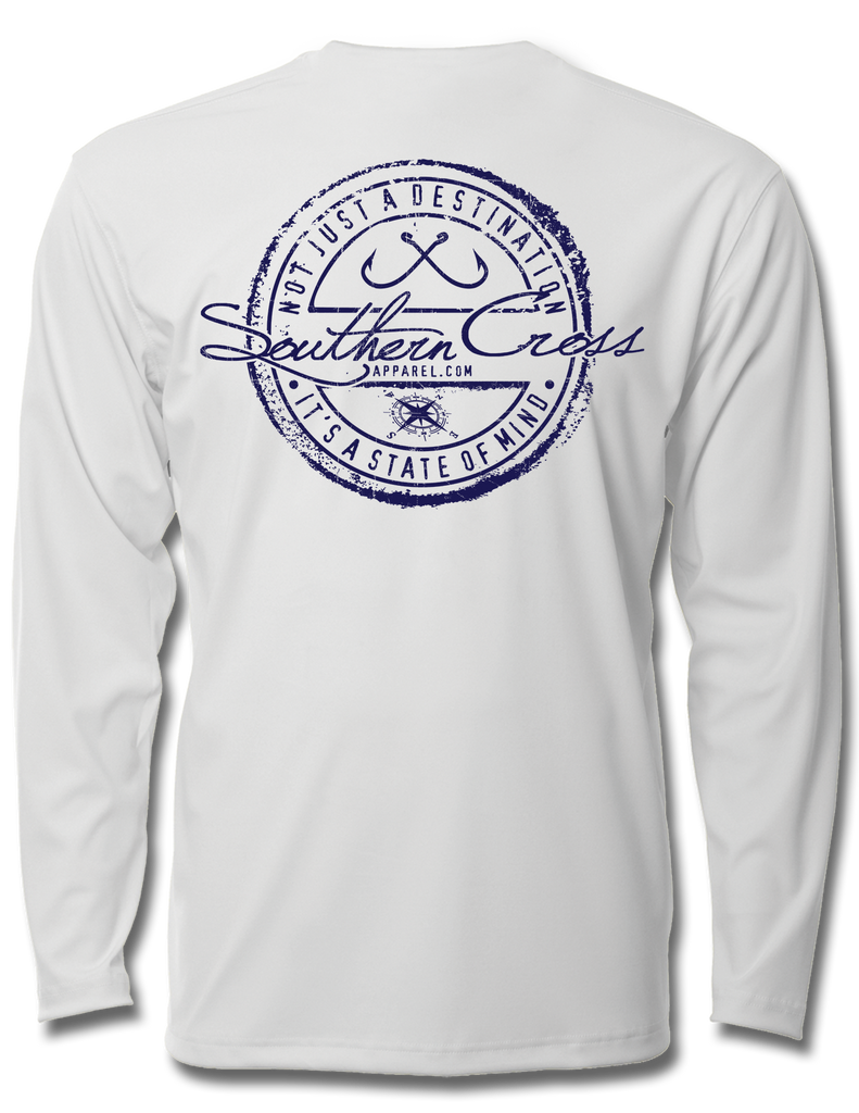 Fishing Stamp Adult LS Performance, Performance Gear - Southern Cross Apparel
