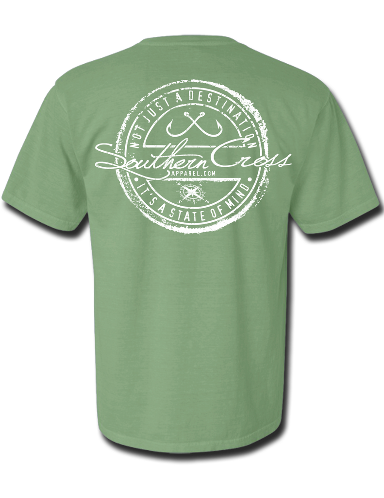 Fishing Stamp Adult Short Sleeve, T-Shirts - Southern Cross Apparel