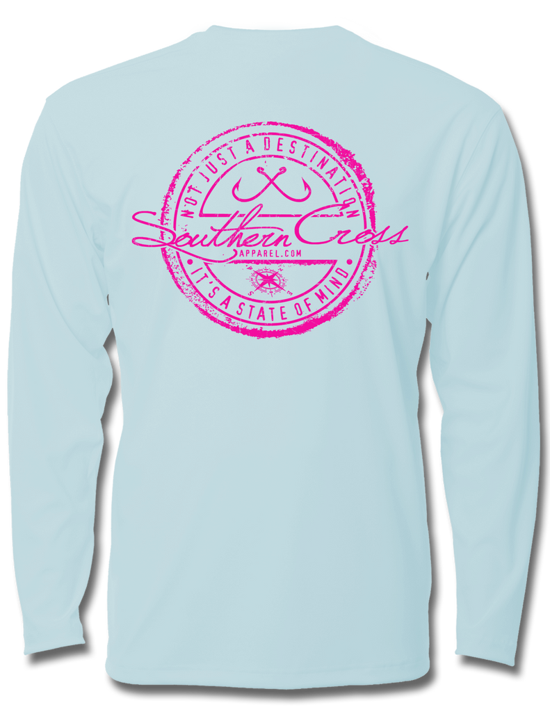 Fishing Stamp Kids Performance Long Sleeve, Kids LS Performance - Southern Cross Apparel