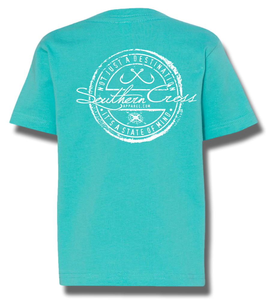 Fishing Stamp Toddler Short Sleeve, T-Shirts - Southern Cross Apparel