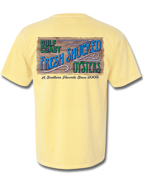 Fresh Shucked Oysters Short Sleeve, T-Shirts - Southern Cross Apparel