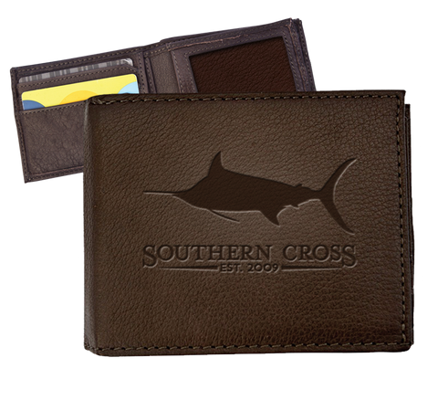 Gentlemen's Reserve Leather Wallet, Accessories - Southern Cross Apparel