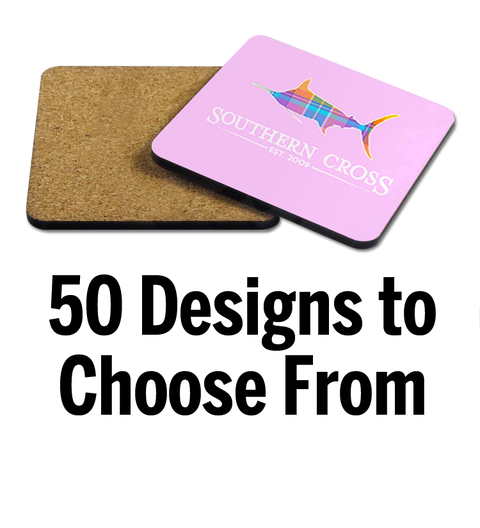 Hardboard Coaster, Accessories - Southern Cross Apparel