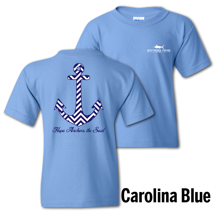 Chevron Hope Anchors the Soul Youth Short Sleeve, T-Shirts - Southern Cross Apparel