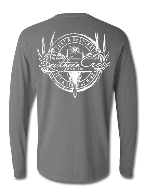 Hunting Stamp Long Sleeve, T-Shirts - Southern Cross Apparel