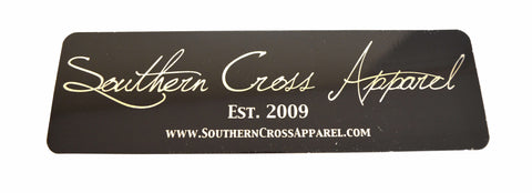 Black Southern Cross Signature Decal, Decals - Southern Cross Apparel