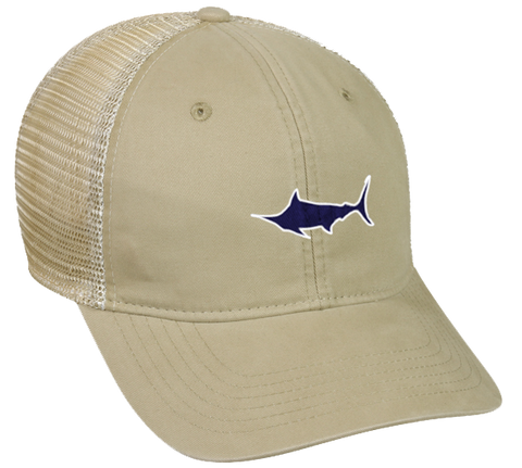 Marlin Tea-Stained Mesh Back Hat, Hat - Southern Cross Apparel