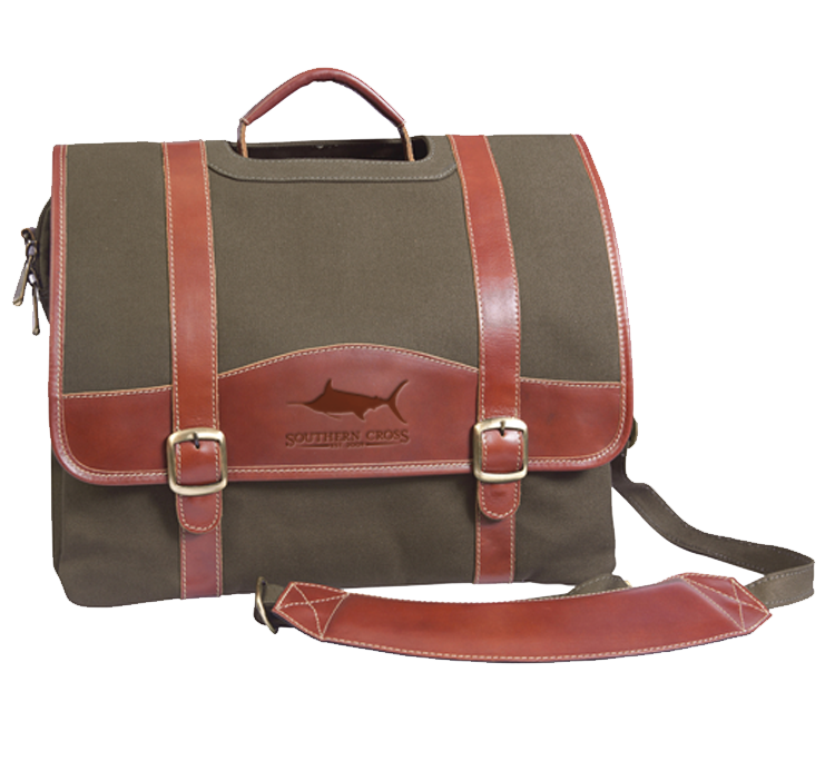 Look Away Leather Laptop Briefcase, Accessories - Southern Cross Apparel
