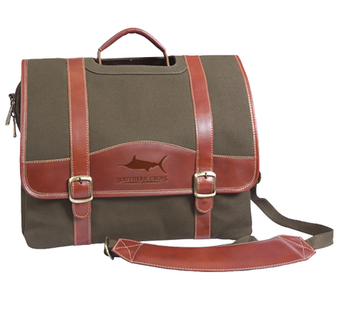 Look Away Leather Laptop Briefcase