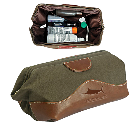 Look Away Leather Dopp Kit