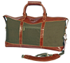 Look Away Leather Weekender Duffel